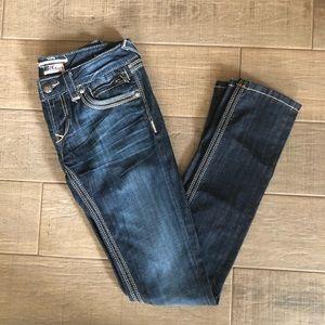 Express Rerock Skinny Blue Jeans Size 2
